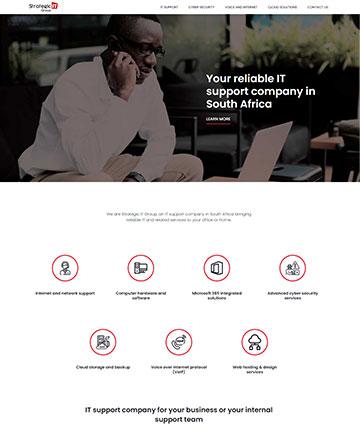 WordPress Web Design Project Strategic IT Group Website Design Johannesburg, South Africa