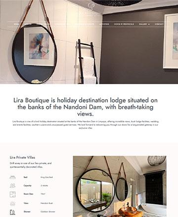 eCommerce Web Design Project Lira Boutique Website Design South Africa
