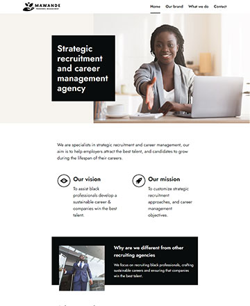 Recruiting Agency Website Design Built in WordPress by Co Web Design Cape Town