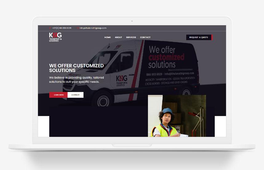 KNG Transport WordPress Website Design Johannesburg