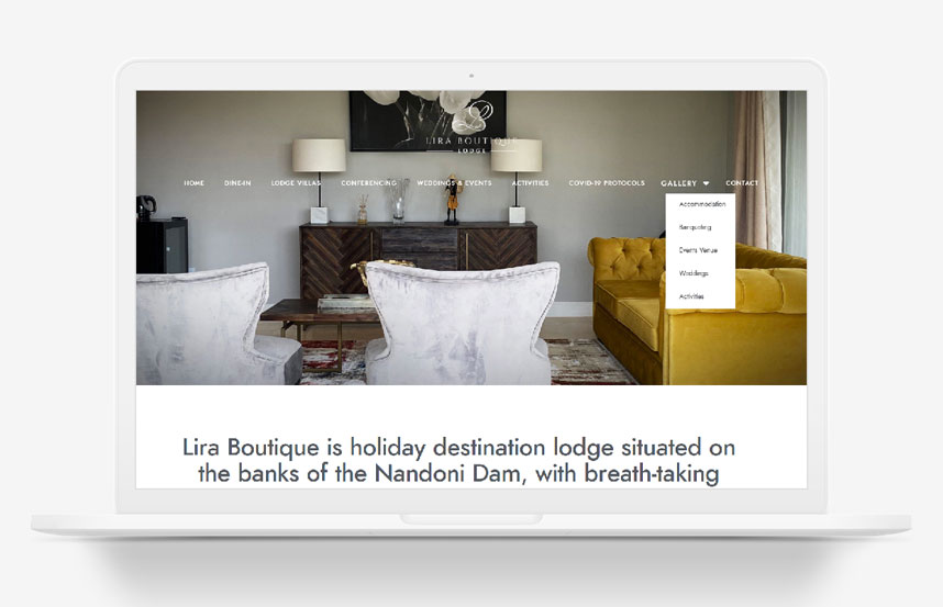 Lira Boutique eCommerce Website Design South Africa