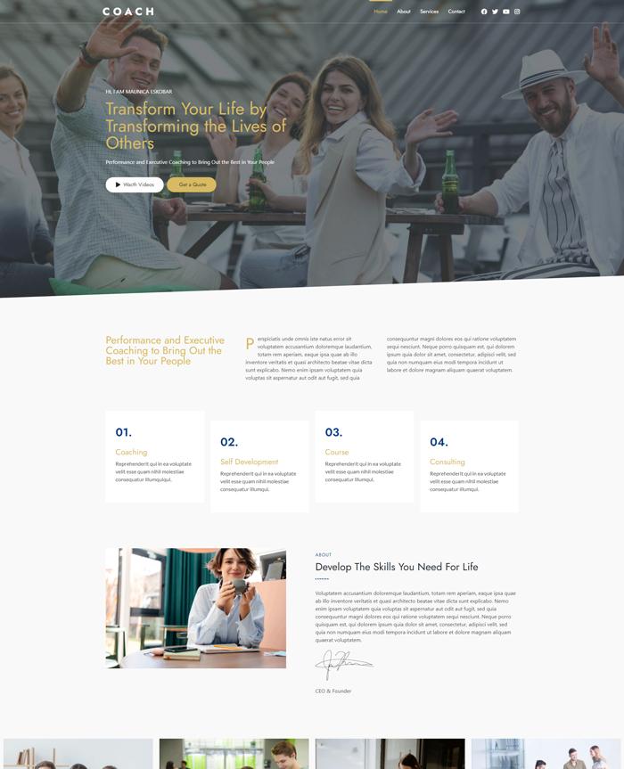 Cheap Website Design Life Coach Website Template